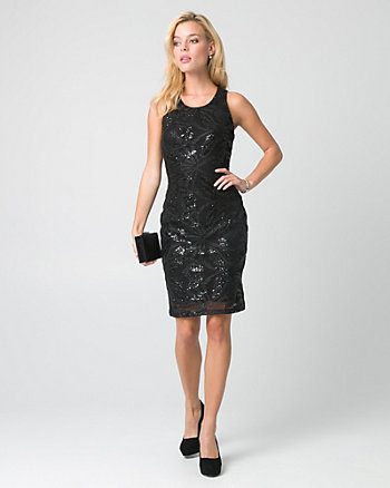 Sequin Crew Neck Cocktail Dress