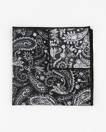Paisley Print Cotton Blend Pocket Square