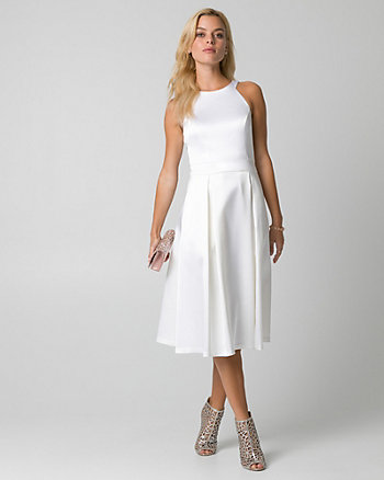Satin Halter Cocktail Dress