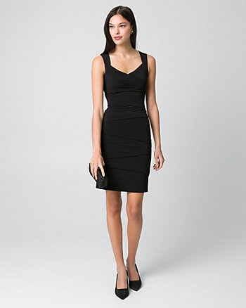 Knit V-Neck Banded Dress
