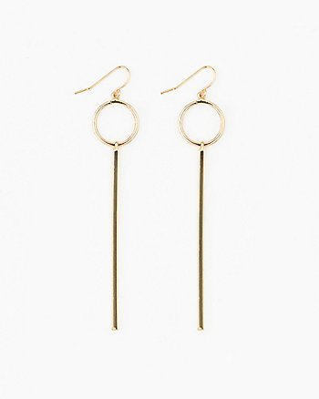 Circle & Bar Metal Earrings