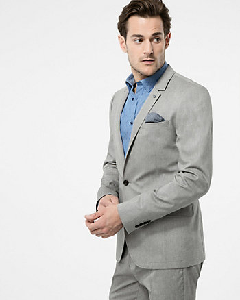 Two-Tone Stretch Twill Slim Fit Blazer