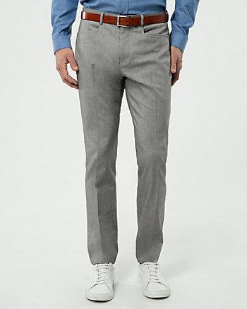 Pantalon à motif ton sur ton en sergé