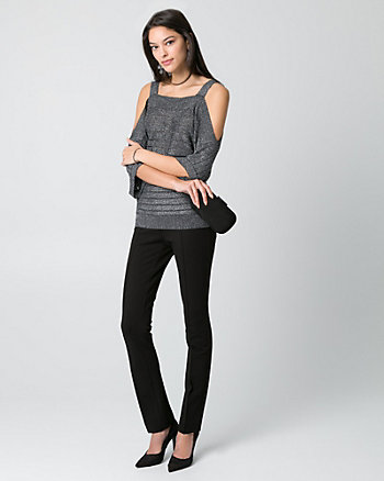 Metallic Knit Square Neck Sweater