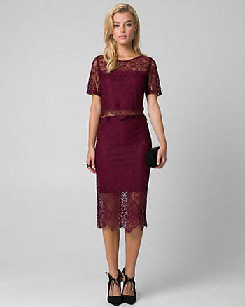 Lace Two-Piece Cocktail Dress