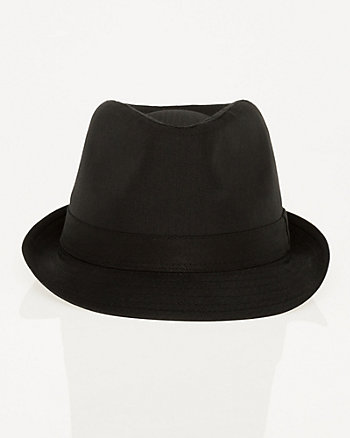 Shiny Herringbone Fedora Hat