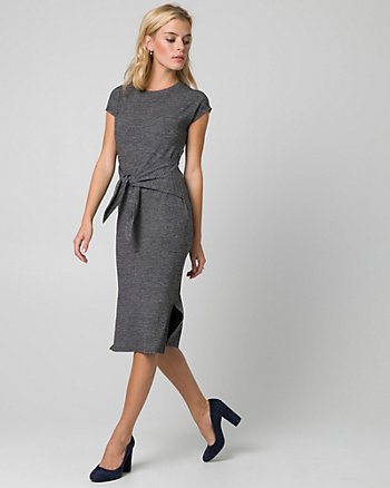 Cut & Sew Knit Scoop Neck Dress