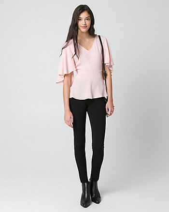 Viscose V-Neck Blouse