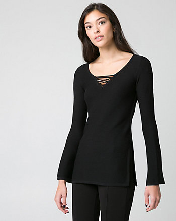 Viscose Blend Tunic Sweater