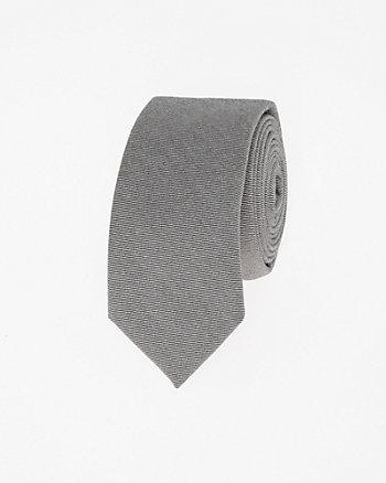 Two-Tone Stretch Twill Skinny Tie