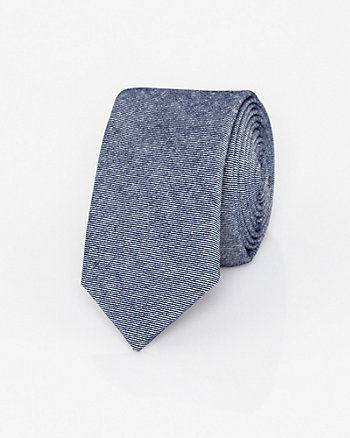 Two-Tone Cotton Blend Skinny Tie
