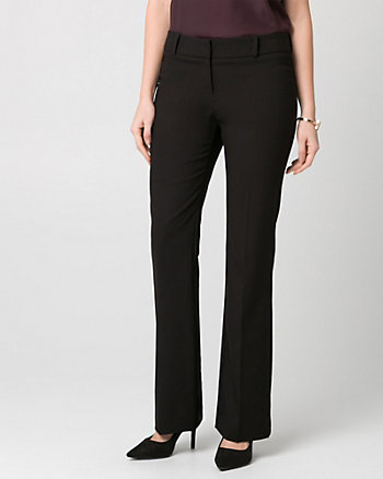 Stretch Gabardine Slight Flare Leg Pant