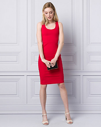Ponte Scoop Neck Shift Dress