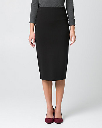 Ponte Midi Pencil Skirt