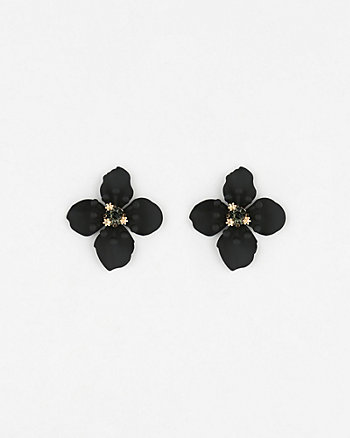 Gem Flower Stud Earrings