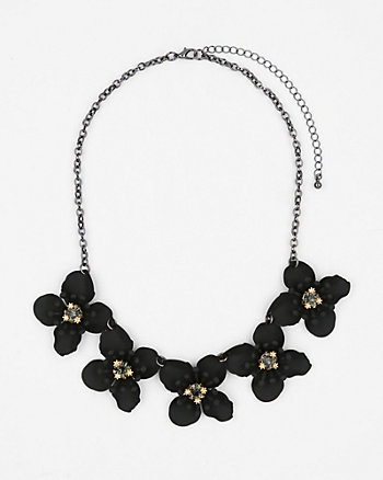 Gem Flower Bib Necklace