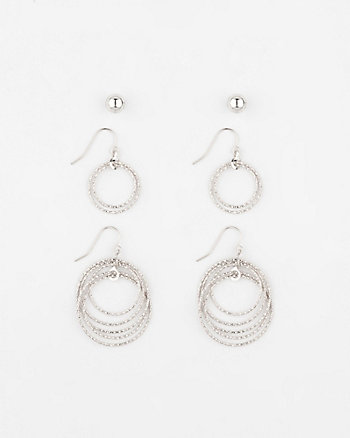 Set of Metal Earrings