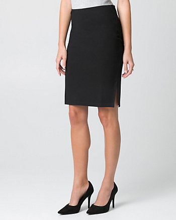 Ponte High Waist Pencil Skirt