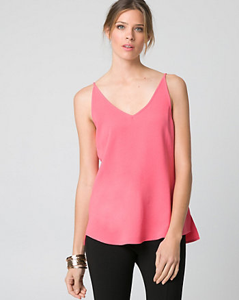 Crêpe de Chine V-Neck Tank Top