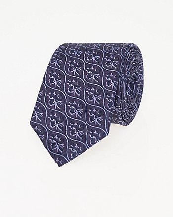 Cravate à motif fantaisie en microfibre