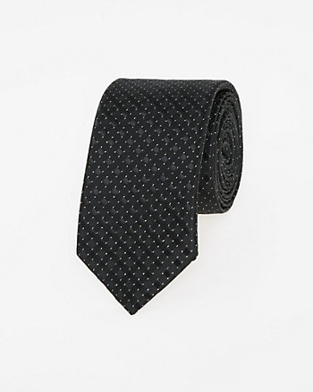 Metallic Check Tie