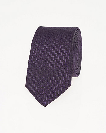 Two-Tone Silk Skinny Tie
