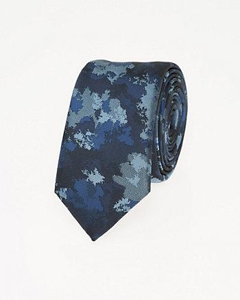 Camouflage Print Microfibre Skinny Tie