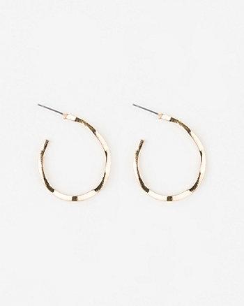Distorted Metal Hoop Earrings
