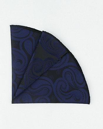 Paisley Print Microfibre Pocket Square