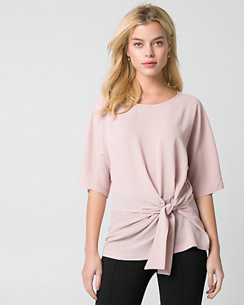 Crêpe de Chine Scoop Neck Top