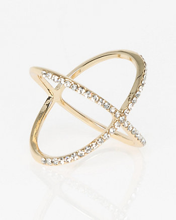 Criss-Cross Gem Ring