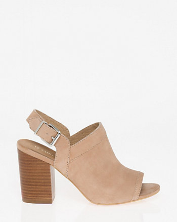 Nubuck Leather Slingback Shootie