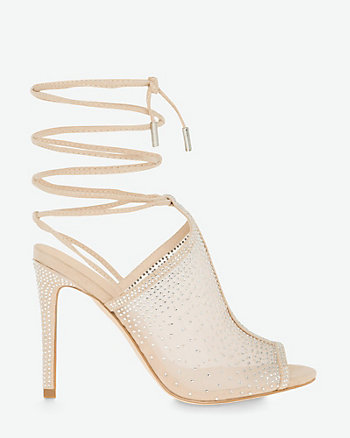 Jewel Embellished Mesh Ghillie Tie Shootie