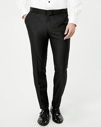 Shiny Twill Slim Leg Pant