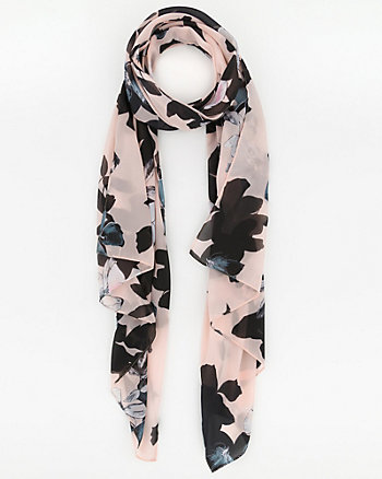 Floral Print Woven Lightweight Scarf