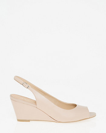Leather Open Toe Slingback