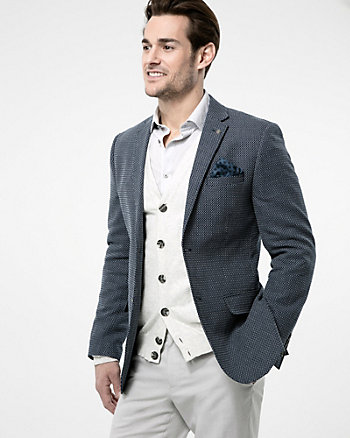 Tonal Cotton Contemporary Fit Blazer