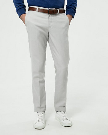 Cotton Blend Slim Leg Pant