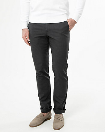 Two-Tone Cotton Slim Leg Pant
