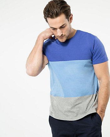 Stripe Cotton Crew Neck Tee