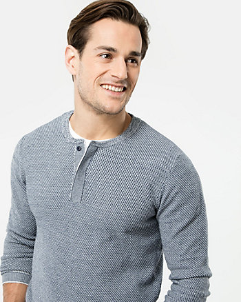 Knit Henley Sweater