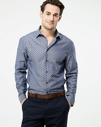 Paisley Print Cotton Tailored Fit Shirt