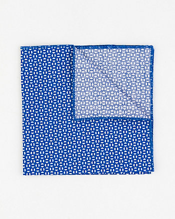 Geo Print Cotton Pocket Square