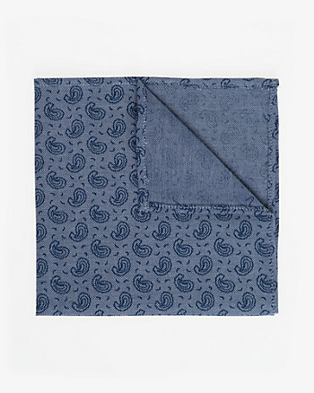 Paisley Print Cotton Pocket Square