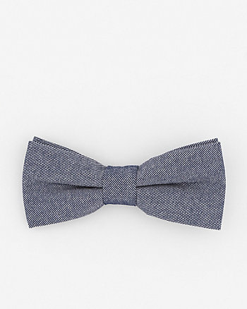 Two-Tone Cotton Blend Bow Tie