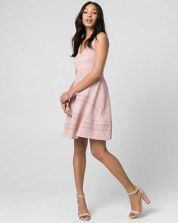 Crochet V-Neck Dress