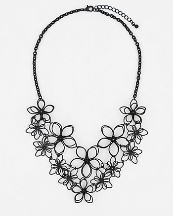 Floral Metal Collarbone Necklace