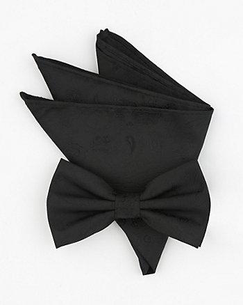 Paisley Print Bow Tie & Pocket Square Set