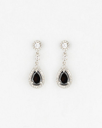Gem Teardrop Chandelier Earrings
