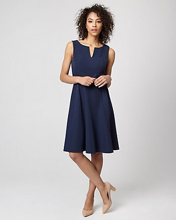 Stretch Twill Fit & Flare Dress